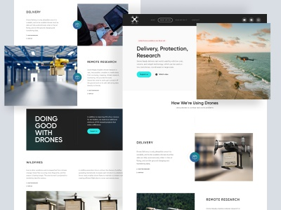 Drone Ready product page 🚀 shipping website site ai artificial intelligence clean ui product page product ecommerce shipping drone delivery user interface website web landing page landingpage landing cash on delivery delivery drone