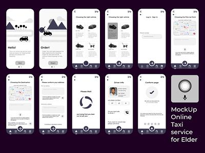 online taxi for Elder illustration logo branding graphic design graphicdesign graphicdesigner wireframe user-interface esponsivedesign prototype uiux uidesign ux app ui