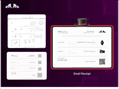 Gentlemanly Email Receipt 017 email receipt gentlemanly elements receipt email ui branding app design uidesign uiux graphic design