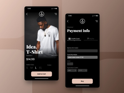 Daily UI #002 - Credit Card Checkout ui