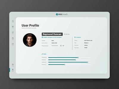 Daily UI #006 - User Profile dailyui ux ui daily ui
