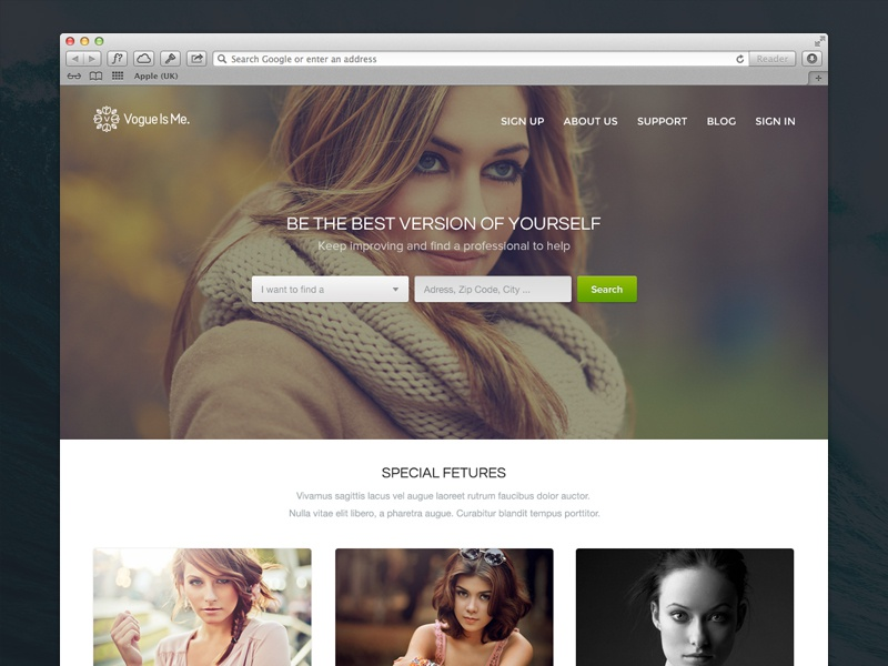 Vogueisme typography classic vintage vogueisme website ui ux flat search main page home