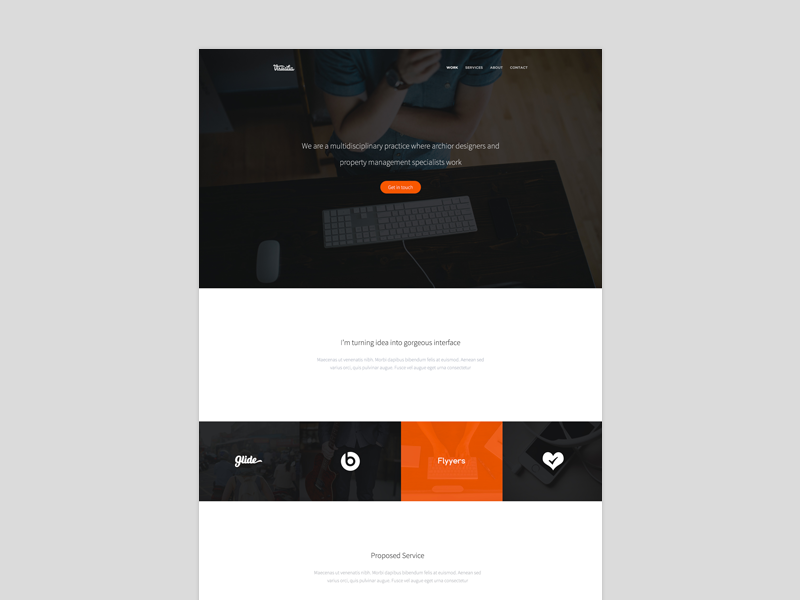 Portfolio [V2] portfolio page modern minimal personal website main white elegant ui ux web
