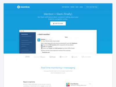 Mention + Slack (finally) 🎉💞 illustration icon mention meet integration minimalist interface ui ux website landing slack