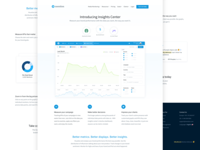 Insights Center Landing 🌎 landing page website case study product interface ui ux minimal launch app mobile dashboard