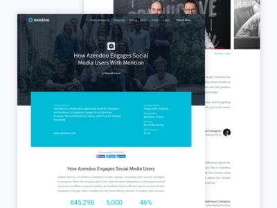 Case Study 💖 landing ui ux case study customer testimony feedbacks colors custom website video