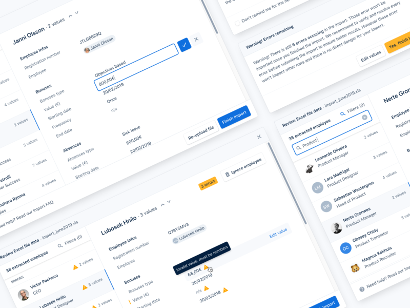 Imports  📎 list edit data minimal dashboard product app modal import excel interface ux ui