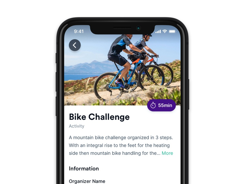 Activity 🚴♂️ minimal android team building offsite trip activity iphone product ios app minimalist interface ux ui