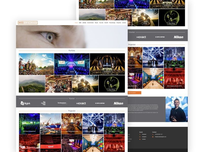 Photography Website for Nico Alsemgeest photographer design inspiration website web webdesign ui mennovanpaassen freelance designer photography