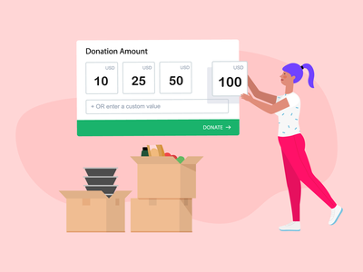 Donation Forms jotform donate payments pandemic volunteering box food donation food tips covid-19 non-profit ui form donation flat blog post ai banner design illustration