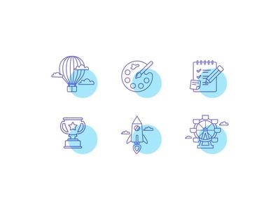 Creativity icon set