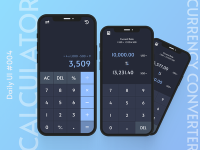 Daily UI #004 - Calculator currency converter calculator dailyui004 ux uiux ui user interface design app dailyui