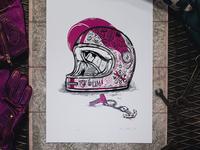 PINK HELMET print