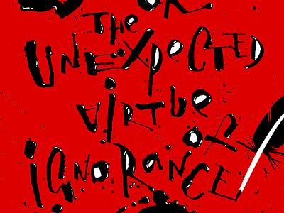 """Poster for """"Birdman"""" movie raven bird white black red brush letter lettering typography calligraphy poster"""