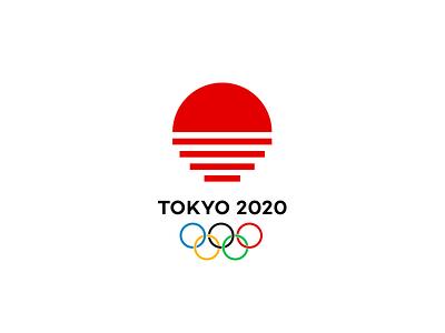 Tokyo 2020 stairs sunrise sun sport olympic games olympiad tokyo logo