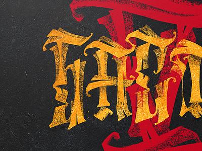 Баста V  cover album music lettering calligraphy typography black gold