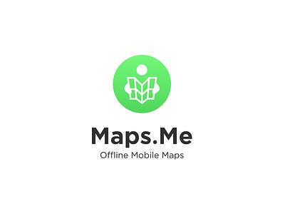 Maps.Me navigation m pin travel mobile symbol people map mark logotype logo