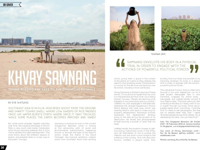 WUPP Spread phnom penh cambodia layout design layout design magazine design magazine adobe indesign