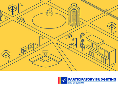 Participatory Budgeting Sign budgeting branding bull city illustraion illustration design sign