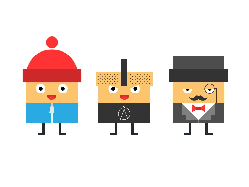DP characters illustration