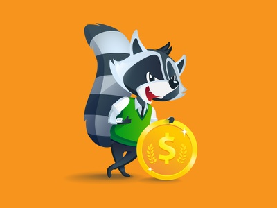 It's time for you to make money out of your app typography raccoon logotype logo lettering identity branding