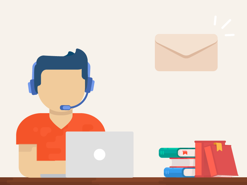 A small illustration for a contact form phone book imac icon consultant office-manager clerk flat web-design illustration