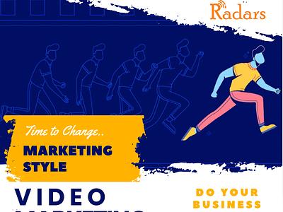 Video Marketing web branding logo design