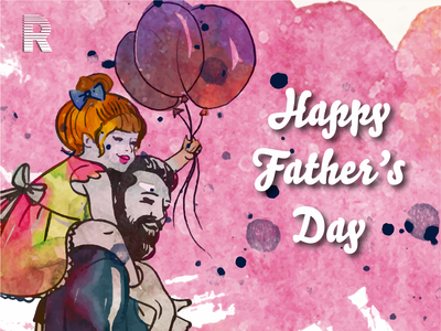 Happy Father's Day catchy ui vector branding illustration 3d animation 2danimation design