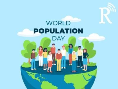 World Population Day catchy ui vector logo illustration branding 3d animation 2danimation design