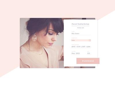 Daily UI 002 - Credit Card Checkout web design web ux ui credit card checkout form cart shopping dailyui 002