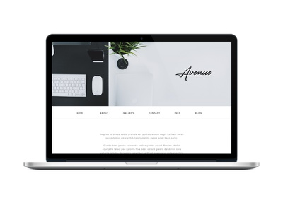 Avenue Web Design landing page homepage web layout flat clean desk ux ui web design website