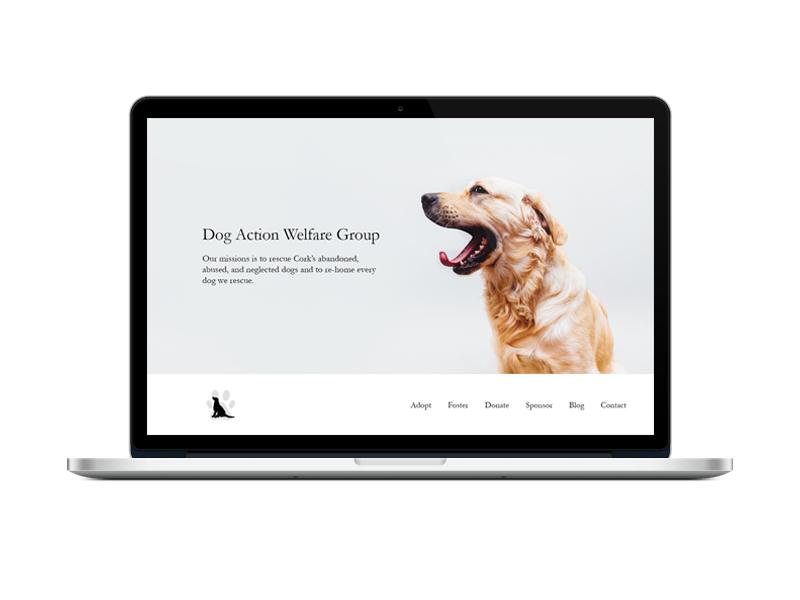 DAWG Landing Page dog minimalist ux ui web web design landing page