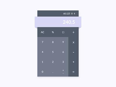 Daily UI 004 - Calculator material flat ux ui calculator dailyui 004