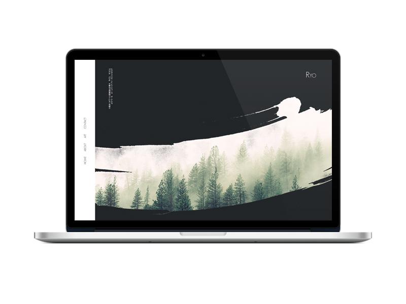 Ryo Website web clean modern minimalist art ux ui web design website