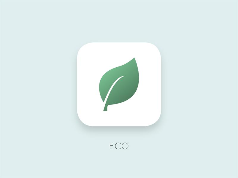 Daily UI 005 - App Icon icon application app app icon eco leaf dailyui 005