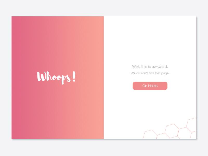 Daily UI 008 - 404 Page page web design web ux ui clean minimal gradient error 404 dailyui 008
