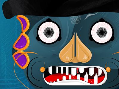 Cyanophobia - Version 2 monster design character cyan black graphic design monster cyanophobia blue illustration