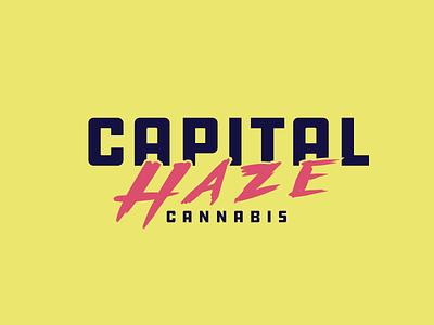 Capital Haze Wordmark cannabis lockup wordmark identity mark illustration branding graphic design logo design