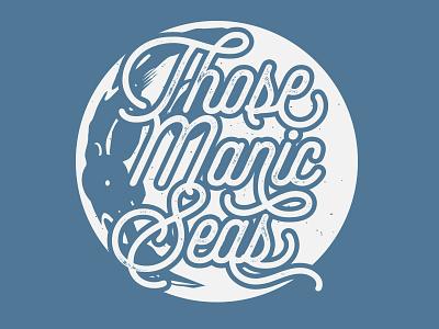 That Manic Moon illustration graphic design design kickstarter branding moon space music band shirt merch t-shirt