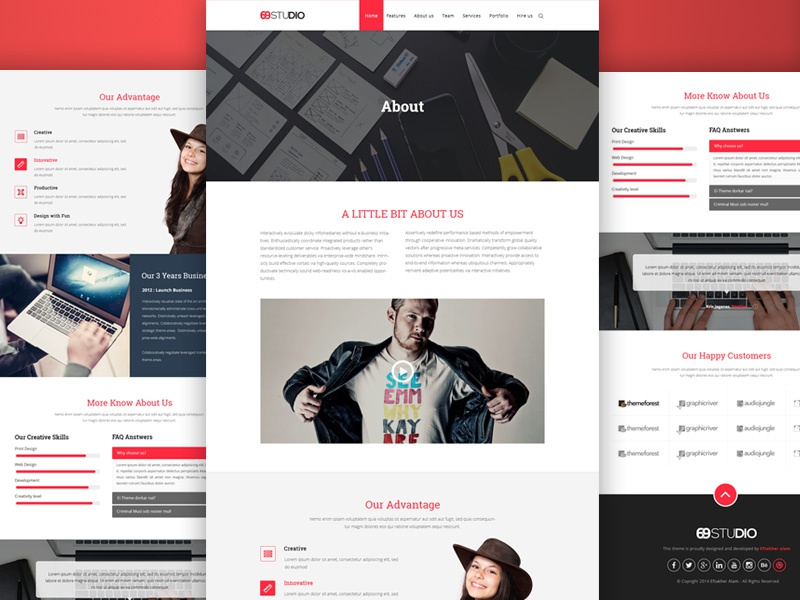 About Us Page By TrendyTheme