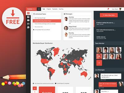 Freebie Dashboard UI Download ui kit ui admin admin dashboard ui ux