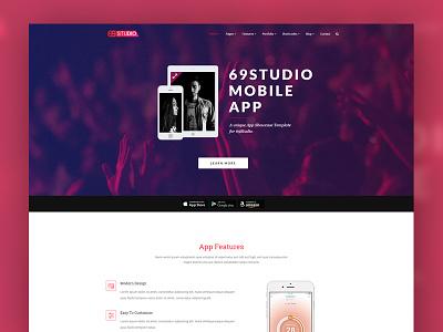 69studio business website landing page website ui ux