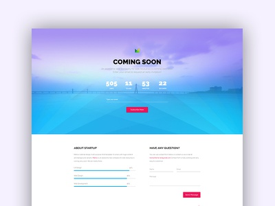Free Material Design Comingsoon Template free template freebie landing subscription comingsoon under construction