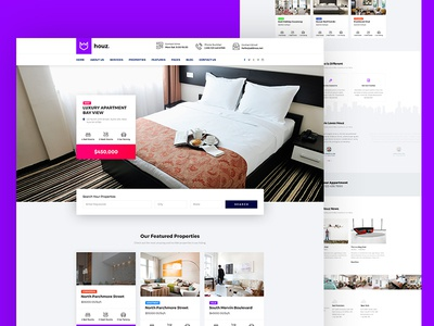 Houz Real Estate Agency Template product cards template html business corporate house agents agencies broker real estate