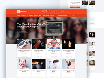 Gadgetfloor Affiliate Marketing HTML Template online marketers marketers online reviewers amazon review blog business marketing affiliate