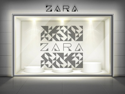 Logo and Pattern for Zara zara brand identity bnw black and white elegant geometric logotype geometric logo geometric pattern triangles logotype pattern vector branding logo illustration minimal graphic design design art