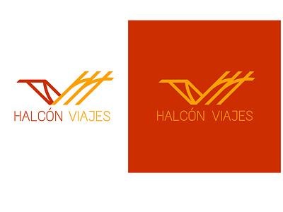 Logo for Halcón Viajes branding vector logo illustration minimal graphic design design art