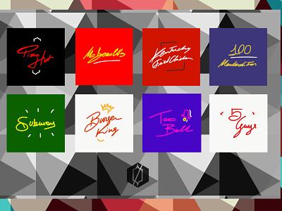 /8signaturelogos/, Episode 1: Fast Food signature logo handwritten logo logo design fast food signature handwriting calligraphy branding vector logo illustration minimal graphic design design art