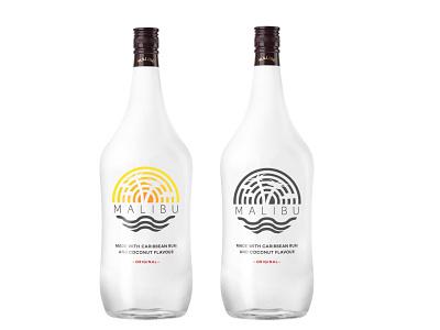 New logo for Malibu modern product design brand identity logo design rum image branding vector logo illustration minimal graphic design design art