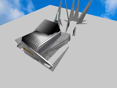 War Memorial war memorial modern futuristic 3d model 3d architecture 3d 3d render archidaily architecture vector illustration minimal graphic design design art
